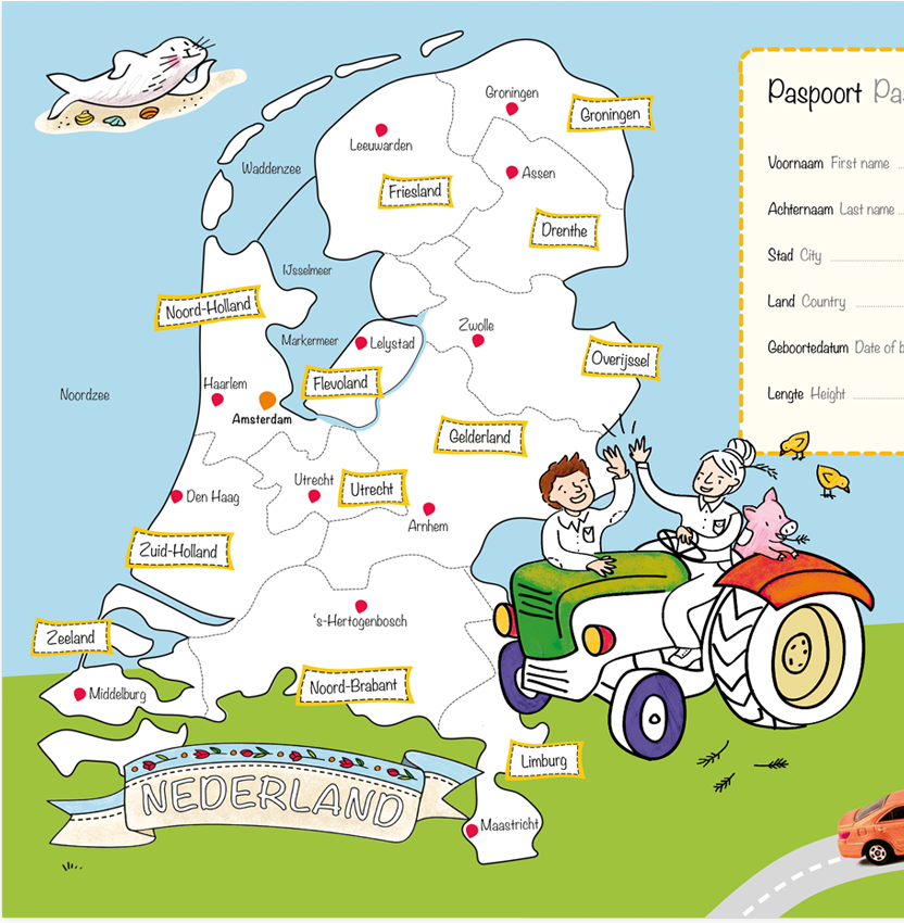 Grote Kleurplaten Auto.Grote Kleurplaat Van Nederland Hunnie Kinderwinkel