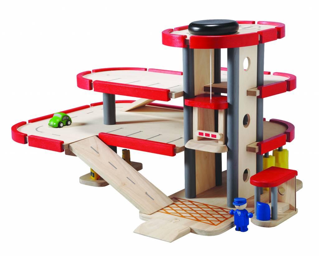 Houten Garage Janod : Plan toys garage groot hunnie kinderwinkel
