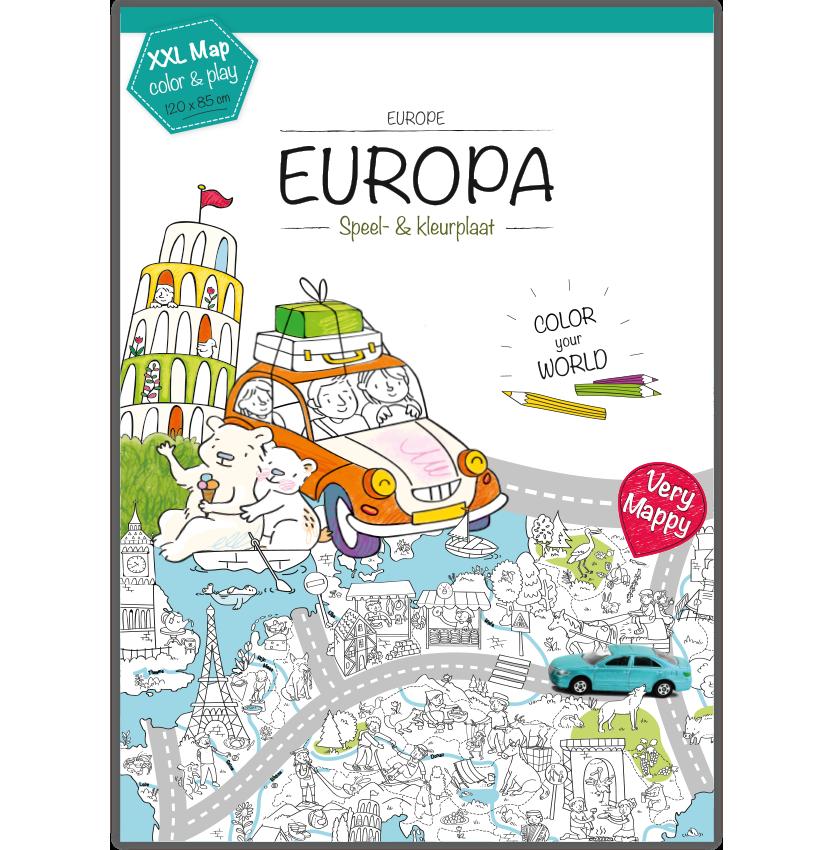 Kleurplaten Landen Europa.Kleurplaat Europa Xxl Hunnie Kinderwinkel